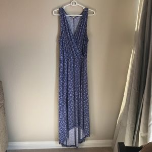 Old Navy Blue High Low Maxi Dress, Size L
